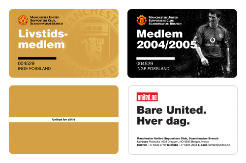 Manchester united supporters club scandinavian branch inge fossland business cards colourmoves
