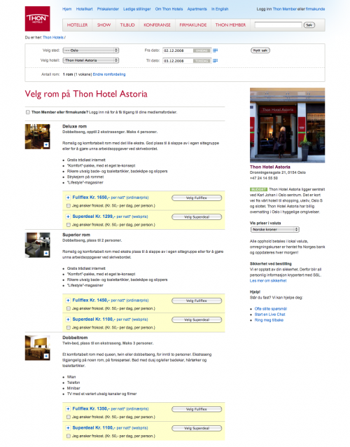 Thon Hotels Booking 2